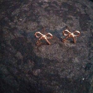 Jewelry - Rose Gold Plated Bow Stud Earrings